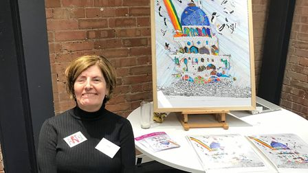 Sam Jevon, 51, started doing art after a brain injury after sustaining a brain injury in a car ac