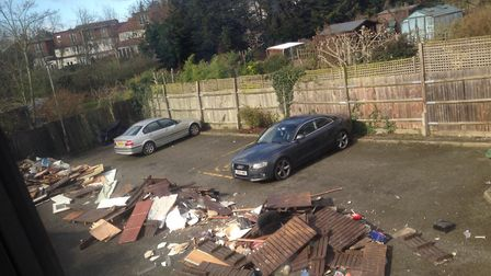 The fly-tip was dumped shortly after midday by a tipper truck without a number plate. Picture: Ms Os