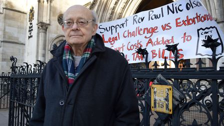 Paul campaigning outside the Royal Courts of Justice in 2016. Picture: Polly Hancock