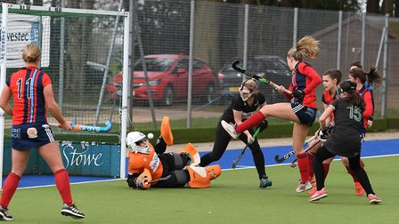 Lily Owsley scores against Buckingham (pic Andy Smith)