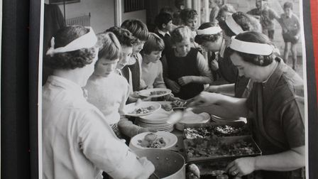 Lunch time for hungry pupils. Picture: Henry Grant