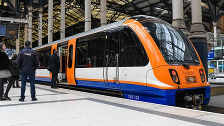 The new Overground trains now running on the Liverpool Street to Cheshunt, Chingford and Enfield Tow