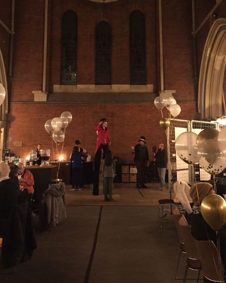 St Luke's Kentish Town was transformed for the evening. Picture: Yeree Woo