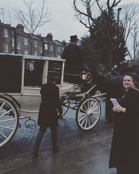 The horse and carriage outside the church. Picture: Yeree Woo