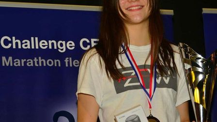 ZFW's Amelie Tsang with her bronze medal after two gruelling days of competition in Paris (pic ZFW F