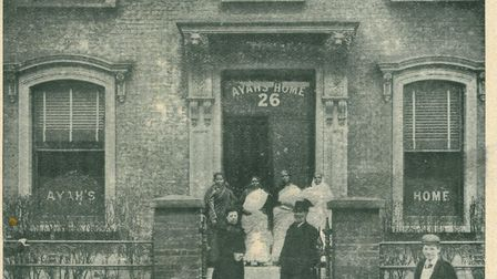 The front entrance of the London City Mission Ayahs and Amahs Home, in Hackney 1900. Picture: Courte