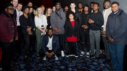 Cast, crew and advisers of the I'm Out film Picture: Haringey Council