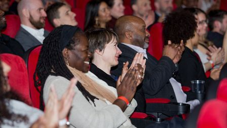 Haringey bigwigs including council leader Cllr Joseph Ejiofor at the I'm Out film launch. Picture: H