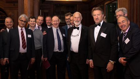 Sir Chris Bonington (front row, third from right) was the guest of honour. Picture: Karl Nathan Hill
