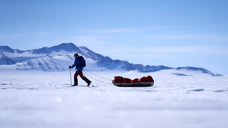 Jenny Wordsworth en route to the South Pole. Picture: Jenny Wordsworth / Hamish Frost