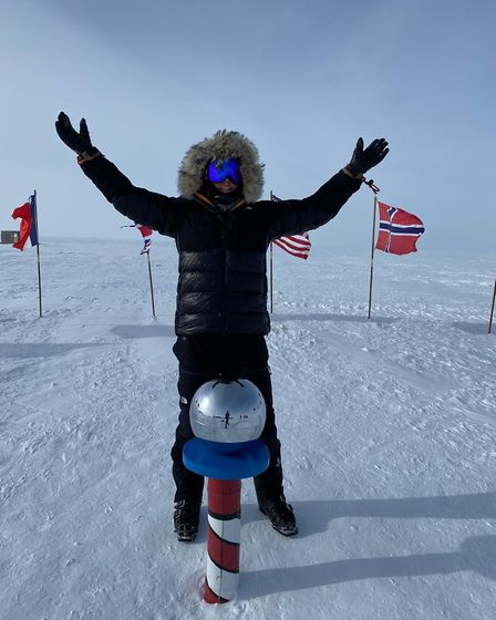 Jenny Wordsworth at the South Pole. Picture: Jenny Wordsworth