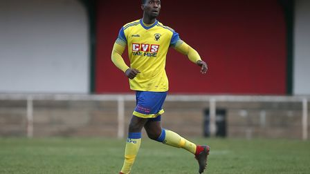 George Djassi Sambu of Haringey during Hornchurch vs Haringey Borough, BetVictor League Premier Divi
