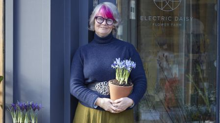 Fiona Haser Bizony, owner of Electric Daisy Flower Farm Shop. Picture: Britt Willoughby Dyer