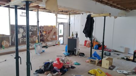 Squatters are occupying the vacant 37-39 South End Road, formerly Monica clothes shop. Picture: Mich