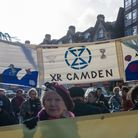 The demonstration was held as part of the '10:10' series on climate action. Picture: Extinction Rebe