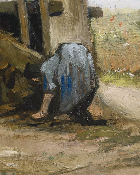 A detail from Peasant Woman in front of a Farmhouse. Picture: Simon C Dickinson Ltd 2020