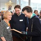 Princess Anne visited Camden Carers Centre on Tuesday, Picture: Theo Wood