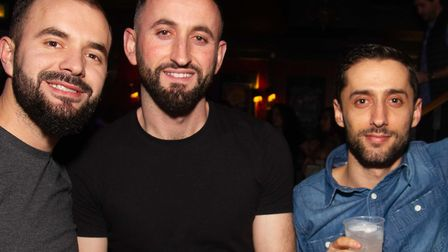 Three men wanted in connection with an alleged Camden Town bar assault. Picture: Met Police