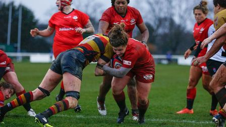 May Campbell attacks for Saracens (pic Lara Miller Photography)