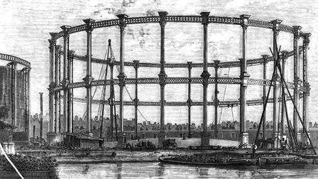 Bethnal Green gas holders. Picture: Dated to 1858 out of copyright