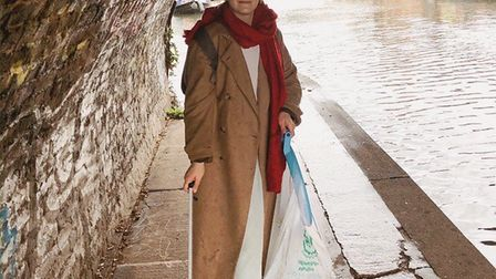 Charlie Rudkin on a canal litter pick.