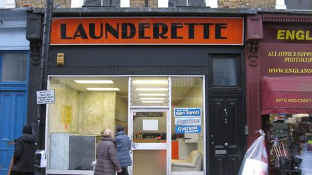 The England's Lane launderette is regularly used by residents at the nearby homeless hostel. Picture