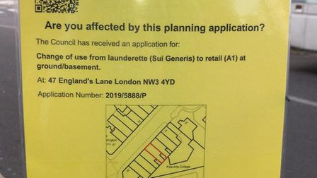 A notice confirming the planning application was still proceeding. Picture: Cllr Luisa Porritt
