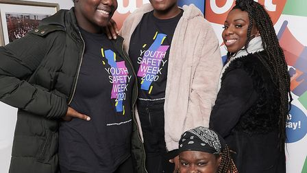 The winners of the Shout Out debate from Fitzrovia Youth in Action. Photo: Justin Thomas