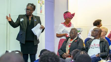 Windrush lead Cllr Carole Williams speaking at an event. Picture: Hackney Council