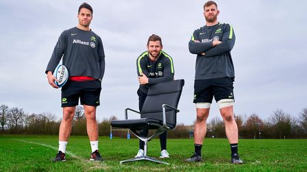 Saracens players Elliot Daly, Sean Maitland and George Kruis launch a competition to find Britain's