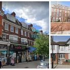 Clockwise from left: A row of ten shops and flats in Golders Green Road, bought for £22m via a shell