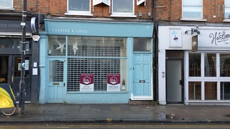 The empty old Cassius and Coco shop in Crouch End. Picture: Sam Volpe
