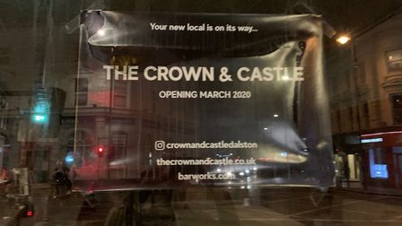 The Crown and Castle is being restored and will re-open in March. Picture: Andre Langlois
