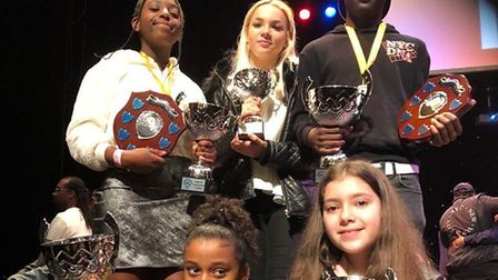 Some of the winners at the Boroughs United talent show. Picture: The Crib