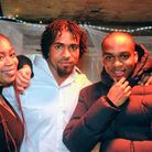 Andre Bent (right) with his sister Michaela and cousin Louis. Andre, 21, was fatally stabbed after a