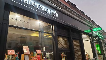 Waterstones in Camden Town on Thursday. Picture: Anonymous