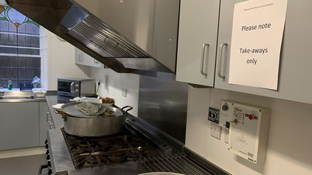 The kitchen at Muswell Hill Soup Kitchen. Picture: Andr� Langlois