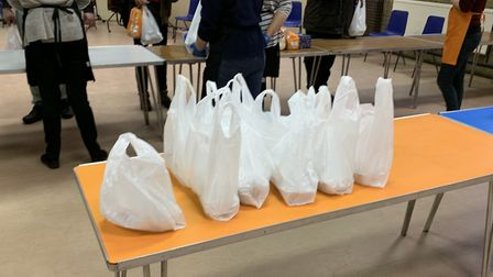 Takeaway meals at Muswell Hill Soup Kitchen. Picture: Andr� Langlois