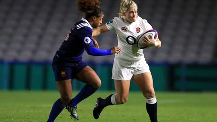 England's Rachel Burford (right) and France's Rose Thomas compete during the Old Mutual Wealth Serie