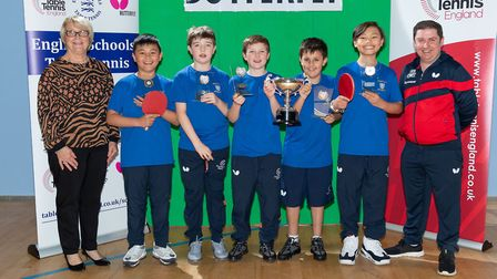 The St Edward's under-11s team. Picture: Stephen Pover