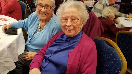 Queen's Crescent Community Association regulars Peggy Crowley, 90 (right), and Connie Hayter, 89. Pi