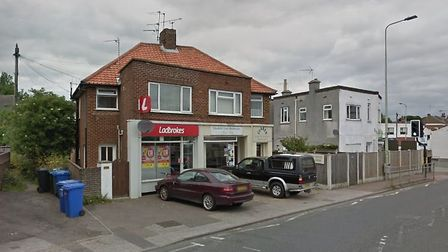 The robbery happened at Ladbrokes in Pakefield. Picture: Google.