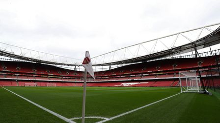 A general view of the pitch during the Premier League match at the Emirates Stadium, London. Picture