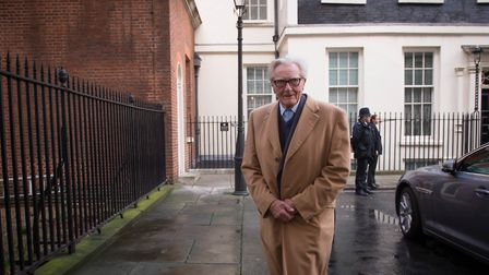 Lord Heseltine departs after a visit to 10 Downing Street. Photograph: Stefan Rousseau/PA.