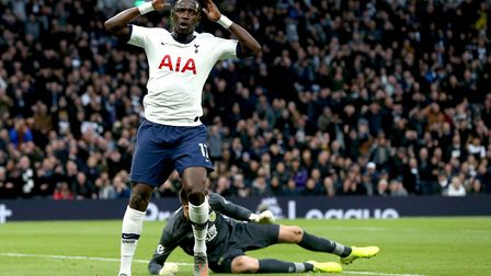 Tottenham Hotspur's Moussa Sissoko rues a missed chance during the Premier League match at the Totte