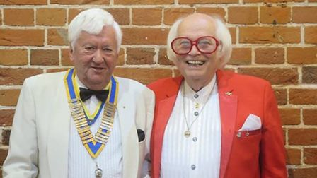 New Lowestoft Rotary president Brian Hunter with outgoing president Kenny Cantor. Picture: Lowestoft