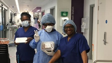 Staff at Homerton Hospital are grateful for the gifts donated by the public to thank them for their