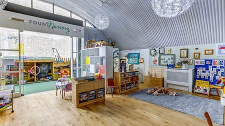 FountNursery in London Fields is still offering childcare at reduced costs to key workers and a baby