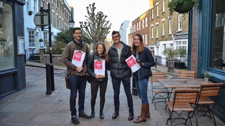 The four founders of Hampstead Volunteer Corps. From left to right: Brendan Guy, Sarah Dobbie, Conno