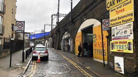 The Andre Street arches, where traders say they are being forced out. Picture: Sam Gelder